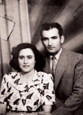 Ο Μιχάλης και η Βασιλική Χατζηπέρου το 1950